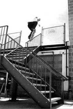 Owner Mike Jackson - big stair ollie